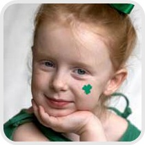 cute st. Patrick's day girl